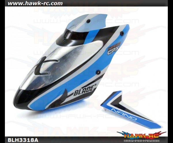 Complete Blue Canopy with Vertical Fin: nCP X