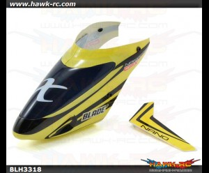 Complete Yellow Canopy w/Vertical Fin: nCP X
