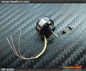 Hawk Creation HP03SE 13500KV BLS Outrunner Motor +7T For Nano CP X