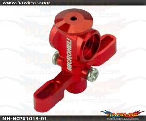 MicroHeli Aluminum Main Rotor Hub w/ Button (RED)-Nano CP X